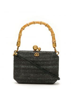 Черная соломенная сумка на плечо Isla