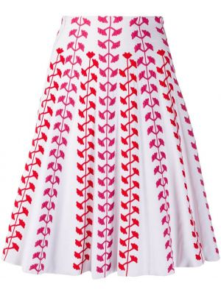 Spódnica z wysokim stanem z haftem z wiskozy Antonino Valenti