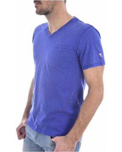 Koszula jeansowa bawełniana Guess
