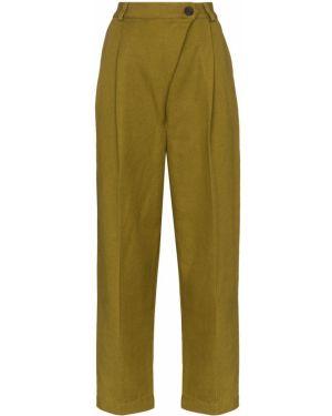 Укороченные брюки с карманами свободного кроя на пуговицах с высокой посадкой Mara Hoffman