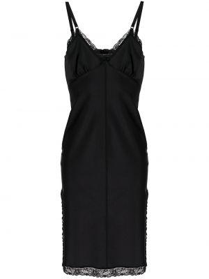 Кружевное платье - черное T By Alexander Wang
