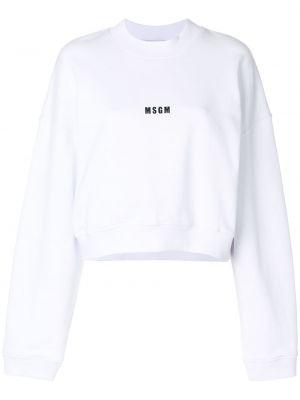 Белая укороченная кофта Msgm