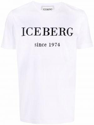 Хлопковая футболка - белая Iceberg