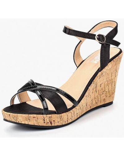 Босоножки черные на каблуке Max Shoes