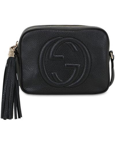 Кожаная кожаная сумка с кисточками на молнии Gucci