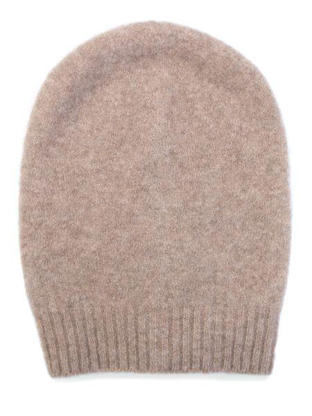 Вязаная кашемировая бежевая шапка Gentryportofino