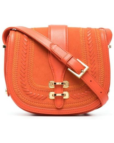 Оранжевый кожаный сумка на плечо с карманами Alberta Ferretti