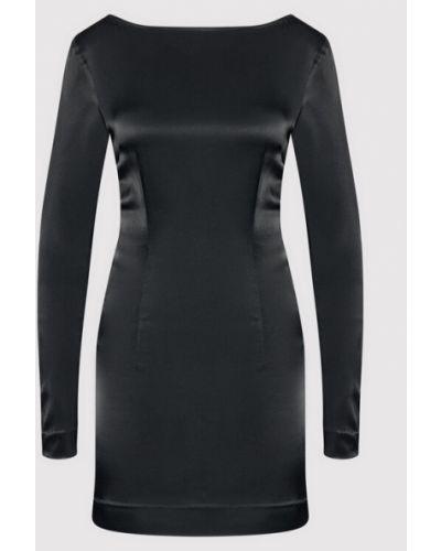 Czarna sukienka koktajlowa Rotate