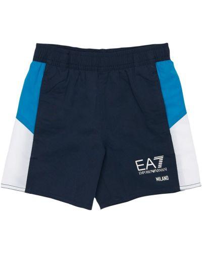 Нейлоновые шорты с карманами Ea7 Emporio Armani