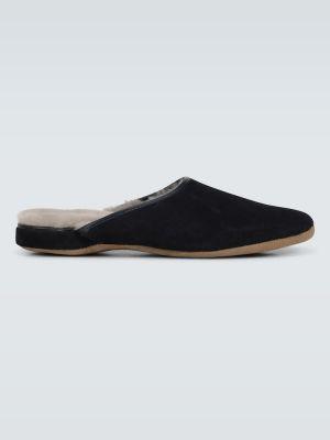 Кожаные темно-синие кожаные туфли с подкладкой Derek Rose