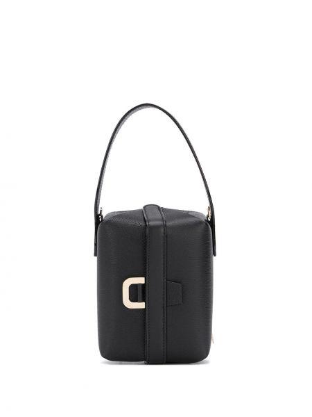 Черная сумка-тоут из натуральной кожи Valextra
