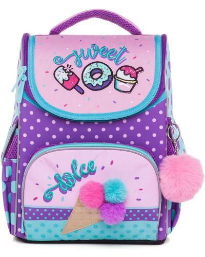 Розовый школьный ранец Hatber
