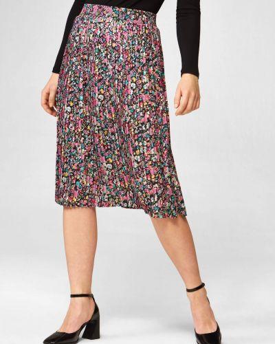 Fioletowa spódnica w kwiaty Orsay