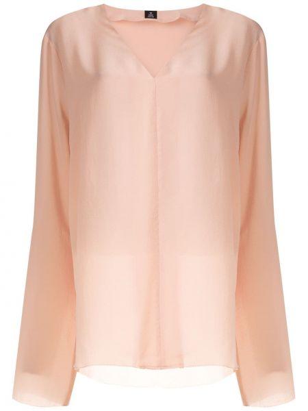 Шелковая блузка - розовая Osklen