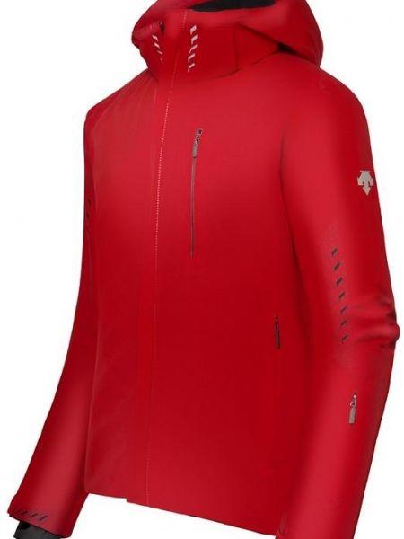 Куртка горнолыжная с капюшоном - красная Descente