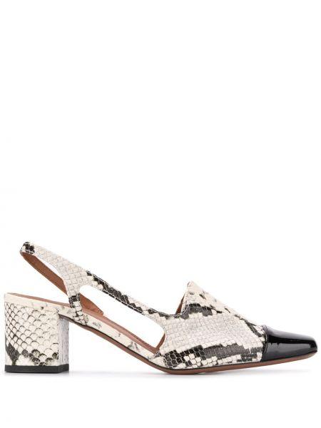 Кожаные туфли черные на шнуровке Lautre Chose