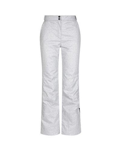 Прямые белые утепленные спортивные брюки Glissade
