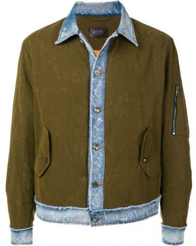 Джинсовая куртка стеганая милитари Overcome