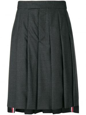 Wełniany klasyczny asymetryczny spódnica plisowana w połowie kolana Thom Browne