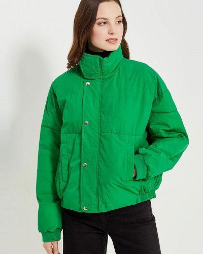 Зеленая утепленная куртка Free People