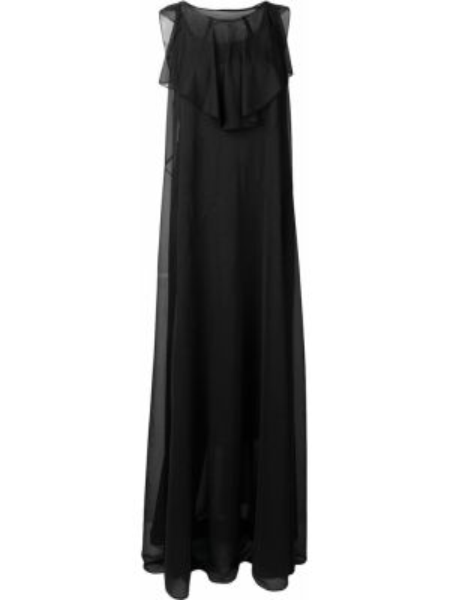 Платье с оборками - черное Maison Margiela