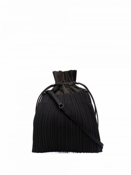 Torba na ramię - czarna Pleats Please Issey Miyake