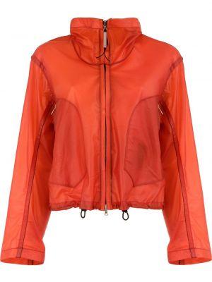 Оранжевая кожаная короткая куртка на молнии Isaac Sellam Experience
