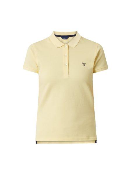 Żółty t-shirt bawełniany krótki rękaw Gant