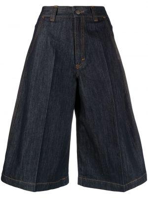 Свободные хлопковые синие джинсовые шорты SociÉtÉ Anonyme