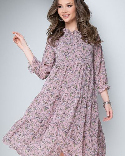 Свободное повседневное шифоновое платье Bellovera