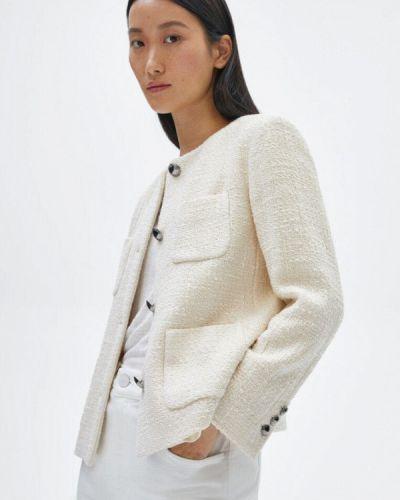Белый пиджак осенний Massimo Dutti