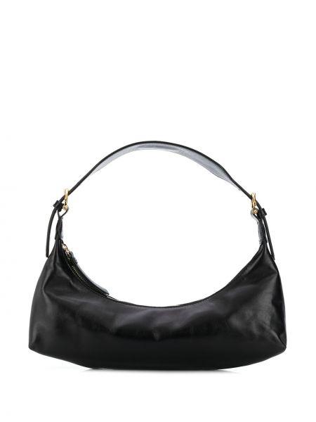 С ремешком черная сумка с пряжкой By Far