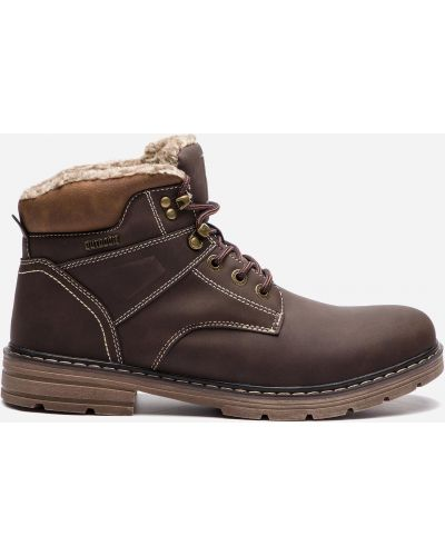 Текстильные ботинки - коричневые Lanetti
