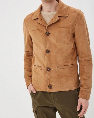 Кожаная куртка - бежевая Oakwood