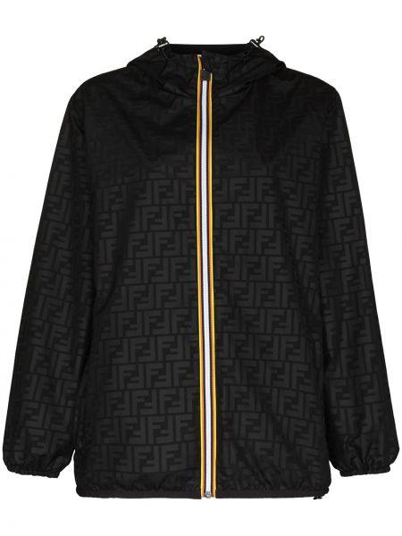 Куртка двусторонняя - черная Fendi