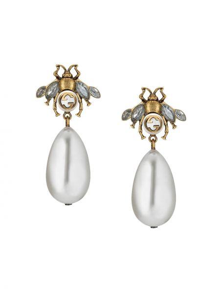 Kolczyki ze sztyftem kolczyki pierścionki z perłami Gucci