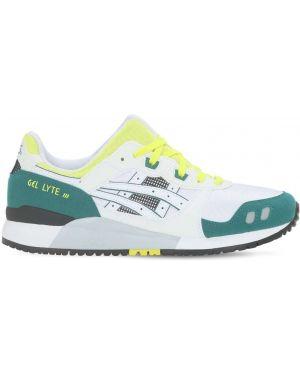 Замшевые кроссовки - белые Asics