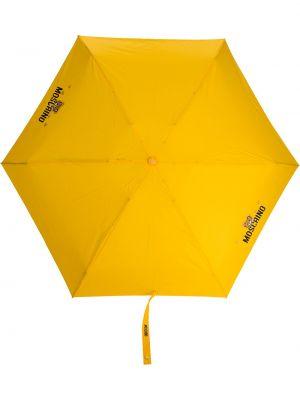Зонт с логотипом - желтый Moschino