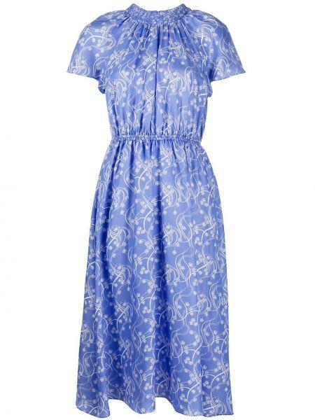 Платье мини миди с цветочным принтом Kenzo