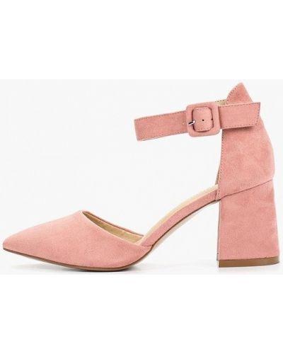 Туфли на каблуке замшевые розовый Rio Fiore