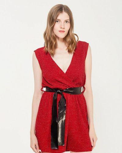 Комбинезон с шортами итальянский красный Perfect J