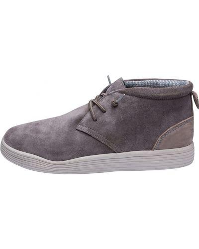 Замшевые ботинки - серые Hey Dude