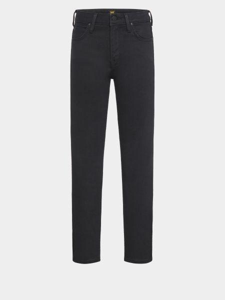 Хлопковые черные джинсы-скинни с высокой посадкой Lee