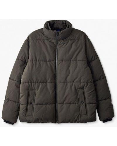 Утепленная короткая куртка хаки Marks & Spencer