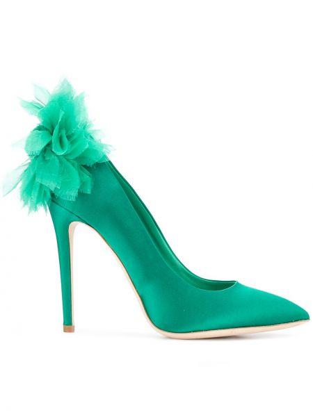 Сатиновые кожаные туфли Olgana