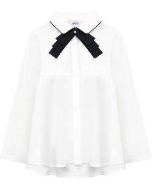 Блуза шелковый белая Aletta