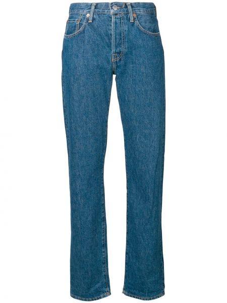Темно-синие джинсы с поясом Acne Studios