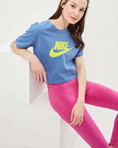 Поло 2019 голубой Nike