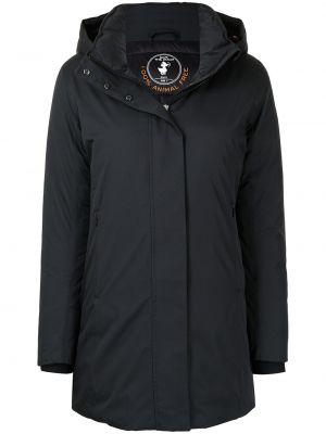 Пальто с капюшоном - синее Save The Duck