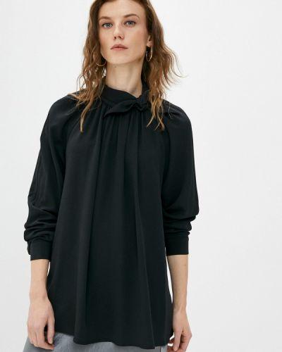 С рукавами черная блузка Missoni